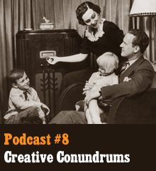 Wherein we discuss obstacles in our creative pursuits. This issue gets at the heart of what it means to be a creative commoner and what we are trying to do with the show. We tackle general problems we face in our creative lives as well specific issues in our various projects. In other news, Chris goes David Lee Roth, Corey takes control of the helm, and Allison practically gives away the entire plot of Scarlet Letters (but not really!). Our hosts race each other to publish the character name General Obstacle, Dr. Phil guest stars, Allison gives Writer's Block the […]