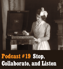 Wherein we collaborate to discuss collaboration. Creative projects are often seen as solitary endeavors, but collaboration is an important aspect of creativity. We discuss the collaboration that goes into making this podcast as well as talk about other artists working together. We go into the difficulties and advantages of collaborative work. In other news,Corey finishes a project and moves on to new ones, Allison prepares for NaNoWriMo, and Chris tells us to hide our children. Also, AcaHellYeah is back with a brand new invention. Word to your mother. Theme music byLatché Swing. Podcast: Play in new window | Download