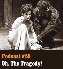 Wherein the gang discusses the genre of tragedy. From Oedipus and Hamlet, to Anakin and Max Payne, our hosts explore the nature of and interest in all manner of tragic hero. Somehow the talk turns to villains and sociopaths, including Magneto, Hannibal, and George Lucas himself. Elsewhere, Harry Potter SPOILERS lurk within. Theme music by Latché Swing. Podcast: Play in new window | Download