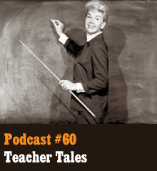 "Wherein we share a wonderful collection of listener-submitted tales that follow from the story prompt ""The teacher turned to her class and smiled."" We even have a surprise, famous submission that's all too shocking. Elsewhere, the gang shares updates on their latest creative works, and it's all so very… titillating. Theme music by Latché Swing. NewsSting by Incompetech. Crowd noise by lonemonk. Podcast: Play in new window 