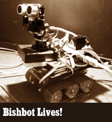 By: Corey Bishop I talked about it on the show. Now, here is my Arduino based robot, Bishbot! Check out the video of Bishbot in action I built it using an open source micro-controller called Arduino. You can find out all about Arduino here. I got the inspiration (and confidence) to build this robot after reading this tutorial. He does a great job explaining the basics of the Arduino and how to program it. He also gives a detailed step-by-step guide to building a robot like this. If you are at all interested in this stuff, check out this tutorial. It's […]