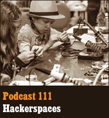 Wherein we peek inside the hackerspaces and makerspaces to explore this growing worldwide movement for makers, creators, tinkerers, and entrepreneurs. Elsewhere, Corey builds an instrument of doom, Chris makes plans to invade the Pacific Northwest, Allison pines for a sleek industrial kitchen, and Penn Jillette stops by the studio for a few minutes. Theme music by Latché Swing. Podcast: Play in new window | Download