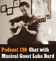 "Wherein Corey and Chris are joined by musical guest Luke Bard for a mix of lively discussion and live music. Luke shared his creative influences, musical inspirations, and talks about his ability to pick up music by ear. Then we delve into his performance history with bands such as Aural Fixation, Boomstick, and Equinox. Elsewhere, Chris reveals his finest band moment, Corey makes Luke sing for his supper, and Allison misses the show as she outruns the paparazzi. Theme music by Latché Swing. ""Darkest Days"" recording courtesy of John Phillips and Luke Bard. Podcast: Play in new window 