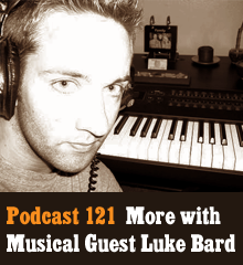 Wherein Corey and Chris continue their chat with musical guest Luke Bard. In this second part, the trio delve into the process of writing lyrics and the art of improvising, Luke premiers an original song and plays another cover, Chris puts Story Forge Cards to the songwriting test,  and Corey can't stop dancing. Theme music by Latché Swing. Podcast: Play in new window | Download
