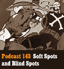 Wherein we talk about the soft spots we develop for some of our favorite media. Corey geeks out over the Marvel Cinematic Universe, Chris delivers a mash-up quiz about endearing characters, and Allison wonders about the blind spots that can tarnish creative works. Theme music by Latché Swing. Podcast: Play in new window | Download