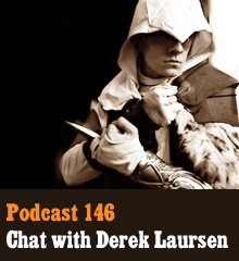 Wherein we sit down with Derek Laursen, the man of many voices, to learn more about his budding voice acting career and creative influences. This episode has everything you've ever wanted – impressions, British accents, a Sir Mix-a-Lot remix, talking toilet pizza, cosplay, and how to successfully stab everyone in the back. And if you don't tune in, we don't know, maybe something bad'll happen to ya… Theme music by Latché Swing. Podcast: Play in new window | Download